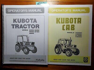 Kubota M5950dt M6950dt M7950dt M8950dt Tractor Owners Operators Manual Cab