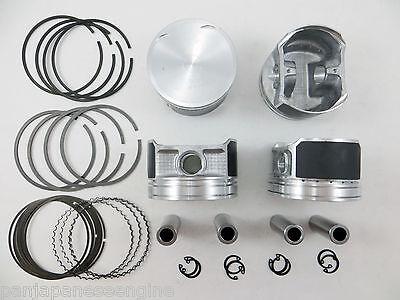 "Upgraded Pistons/Premium Rings for 02-06 Nissan 2.5L Altima Sentra QR25DE .010"""