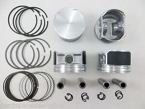 Upgraded Piston+Premium Ring Kit for 02-06 Nissan 2.5L Altima Sentra QR25DE Std.