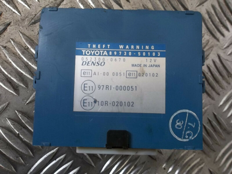2003 LEXUS LS430 THEFT WARNING MODULE UNIT ECU 89730-50103 052300-0670