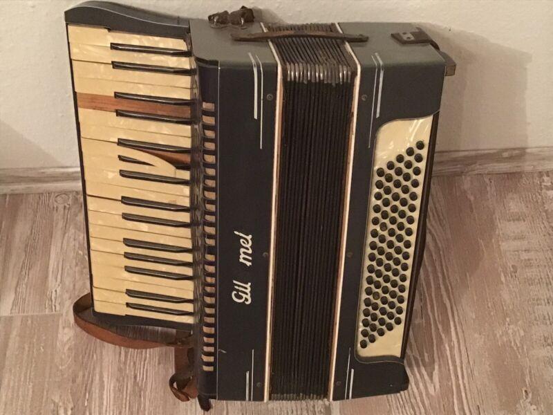 alte Zieharmonika / Schifferklavier / Akkordeon  - defekt - Schönes Dekostück