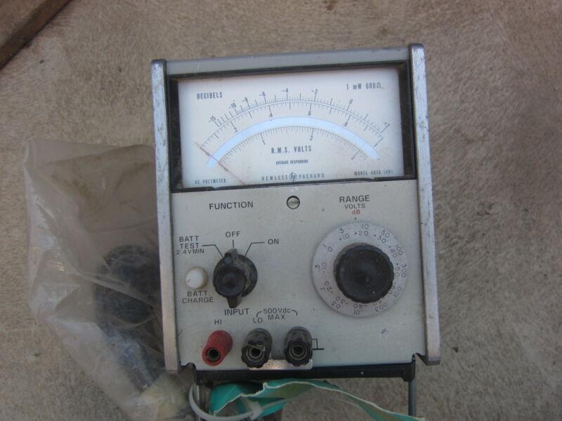 HP Hewlett Packard 403B 115/230V Volt Meter, Used