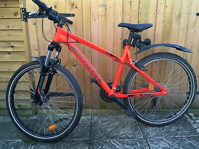 btwin rockrider 340 mountain bike orange size small adult teen junior