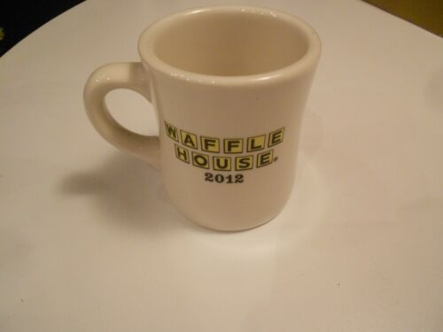 """waffle house 2012 mug fast good food 3 1/2"""" high excellent condition"""