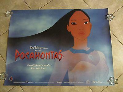 POCAHONTAS movie poster 30 x 40 inches WALT DISNEY original UK poster