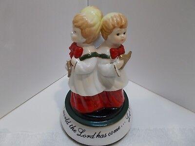 Christmas Choir Porcelain Music Box Cracker Barrel  Plays Hark the Herald Angles ()