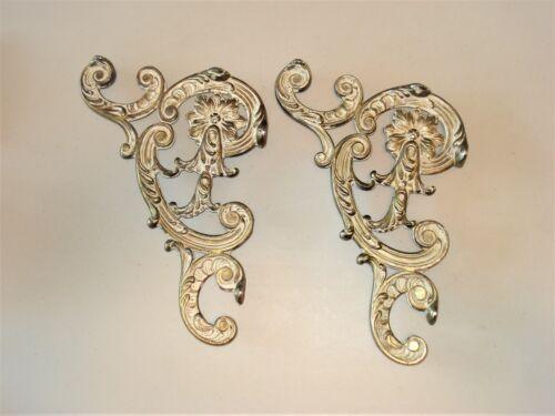 "Pair of Antique Vintage Ornate Architectural Porch Corbels Scrolls Brackets 15"""