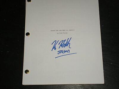KANE HODDER Signed Friday the 13th JASON X Full SCRIPT