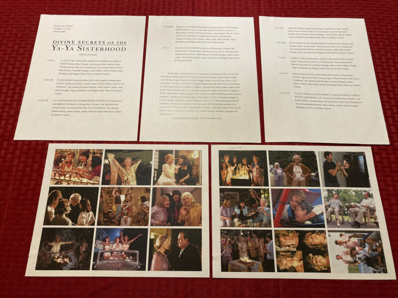 Divine Secrets Of The Ya-Ya Sisterhood Press Photo Guide 2002 Sandra Bullock