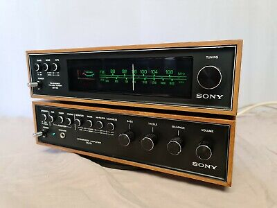 Sony TA-70 Vintage Stereo Amplifier - Phono Stage & ST-70 Tuner - Made in Japan