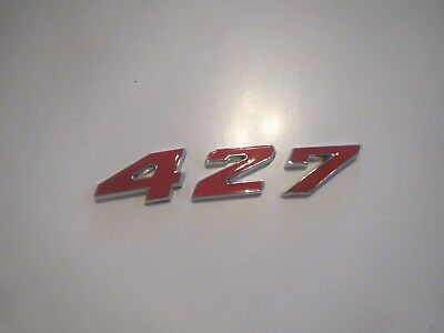 CHEVROLET 396 ENGINE ID HOOD SCOOP QUARTER TRUNK FENDER EMBLEM RED
