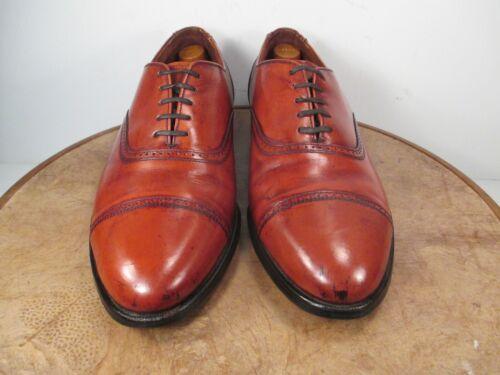 Hanover MasterFlex Brown Leather Brogue Cap Toe Oxfords Wide Size 10 E/C