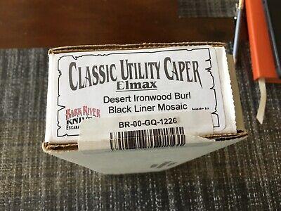 Bark River classic utility caper desert ironwood handle elmax steel maker's shea
