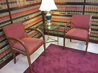 2 Office Guest Chairs High End Geiger Brickel