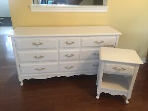 Beautiful French Provincial Dresser and Nightstand