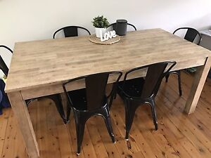 6x 'Worx' black dining chairs Elanora Heights Pittwater Area Preview