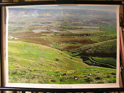 Schulwandbild Mural Image River Flußoase Tal Des Jordan Jordan Asian 71x51cm