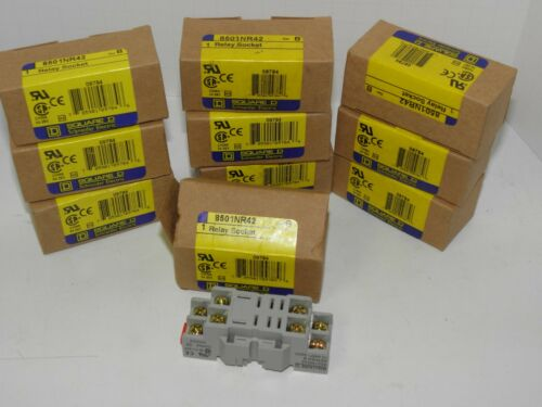 Batch of 10 Square D relay sockets 8501NR42