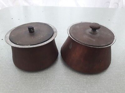 vintage 2 Copper Miniture/Small Cooking pens