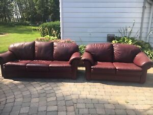 Sofa and love seat leather