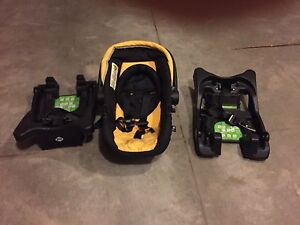 Baby car seat with 2 base.