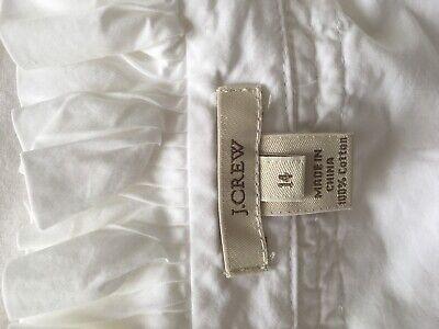 J Crew Ladies White Shirt size 14