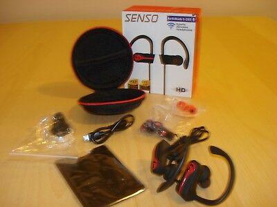 SENSO Bluetooth Wireless Headphones Best Sports Earphones w/Mic IPX7 (Best Waterproof Wireless Headphones)