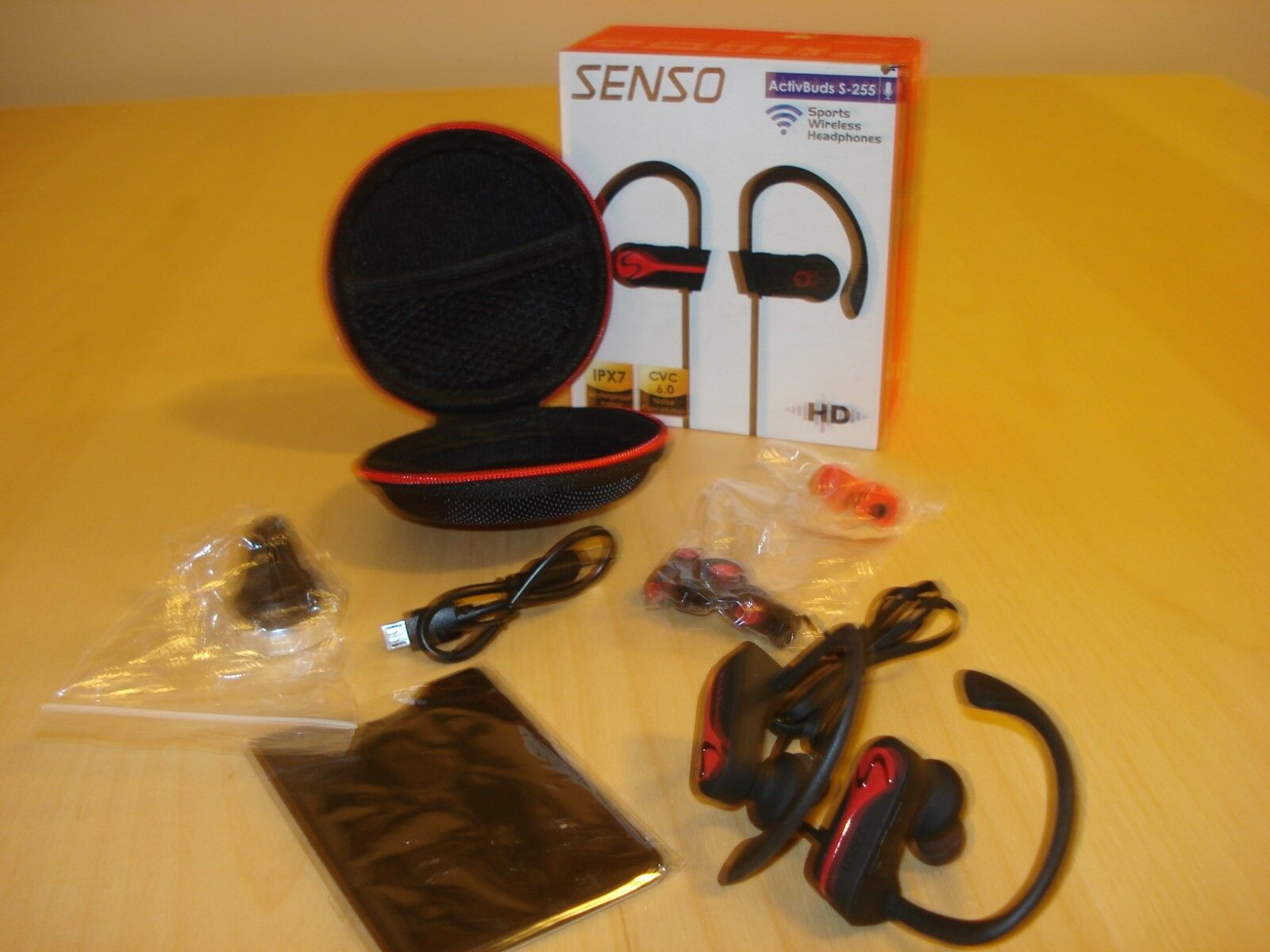 SENSO Bluetooth Wireless Headphones Best Sports Earphones w/