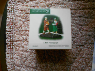 DEPT 56 CHRISTMAS IN THE CITY A NEW PHONOGRAPH  NIB