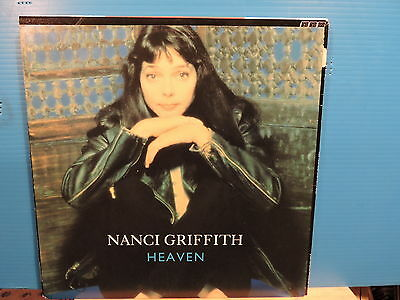 "NANCI GRIFFITH Heaven +2unreleased tracks-see photo12""-Free UK post"