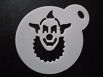 Laser cut small clown face 1 design cake, cookie, craft & face painting stencil
