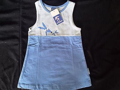 Mädchen Kleid Kinderkleid Kleider für Baby und Kinder Eggkids  Blau Gr. 50-116 (Kleid Für Baby Mädchen)