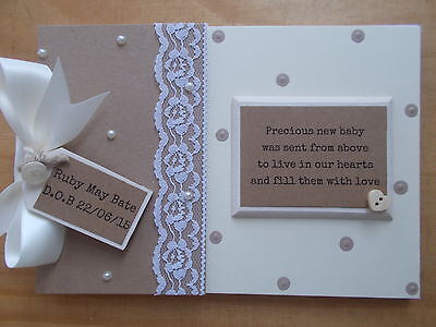 Personalised New Baby Scrapbook Photo Album Gift  Any Wording QUICK POSTAGE