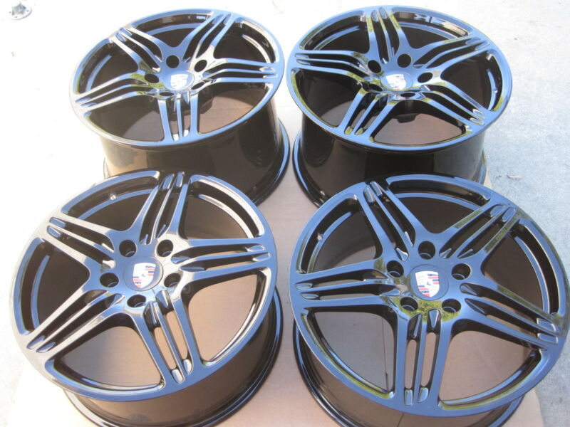 "19"" Nw Oem Factory Porsche 997 Black Edition Forged Turbo Wheels 911 993 996 998"