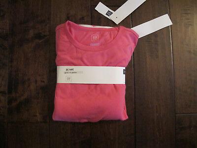 2 pc pink hearts girls pajama set  gap kids - sz 8 -Valentine's Day NWT twins?