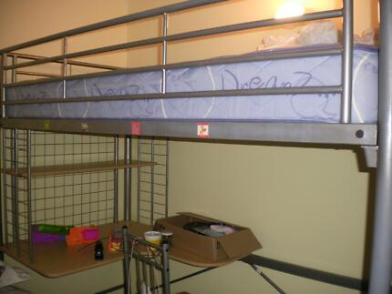 Modern bunk bed with desk underneath, mattress NOT included Davistown Gosford Area Preview