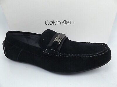 CALVIN KLEIN  ITHAN Casual Loafers Slip-On Mens Shoes SZ 10.0 M Black, NEW 15472