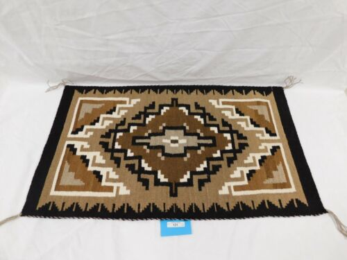 121/222 AUTHENTIC NAVAJO RUG ~ WOVEN BY BESS BEGAY OF TUBA CITY, AZ. JAN. 12, 19