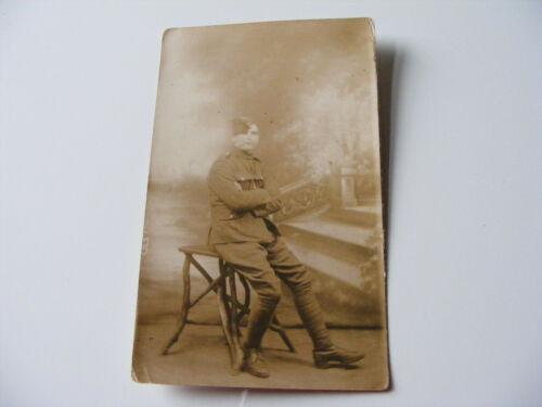 WW1  Royal Flying Corps Original Photograph Postcard  No.1 Section Rigger 1919