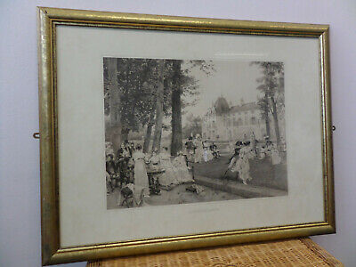 Large Picture Frame Flameng Francois-Victorian 'Reception At Malmaison In 1802'