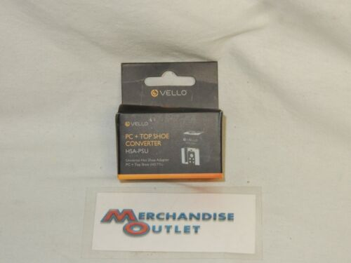 Vello Universal Hot Shoe Adapter - PC Connection + Top Shoe - NEW