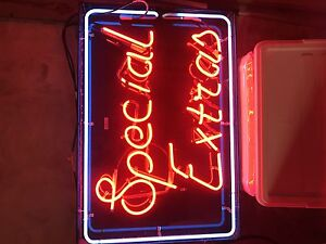 NEON Sign 'Special Extras'