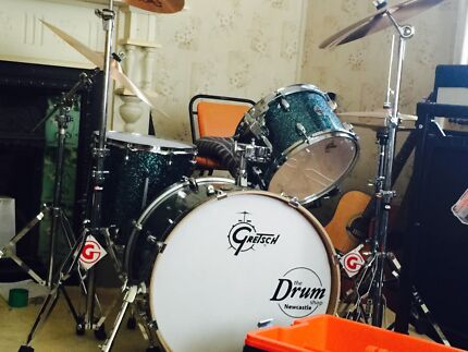 Gretsch Catalina Club 4 piece drum kit with hardware and cymbals. Lambton Newcastle Area Preview