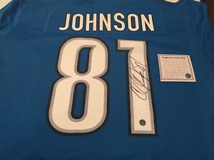 Authentic signed Calvin Megatron Johnson Jersey with COA - mint
