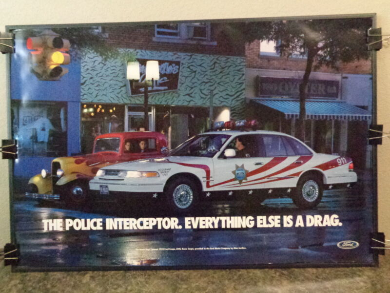 1995 FORD POLICE INTERCEPTOR POSTER WITH BEACH BOY