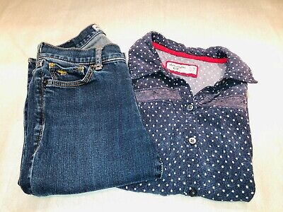 Abercrombie Kids Clothes -Lot of 2 -  Jean's and Shirt - Size 12 - Cute Outfit!
