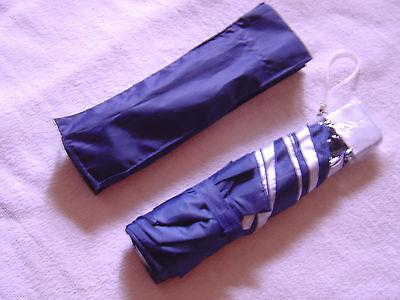 Parapluie pliable pour femme (marine/argent) neuf