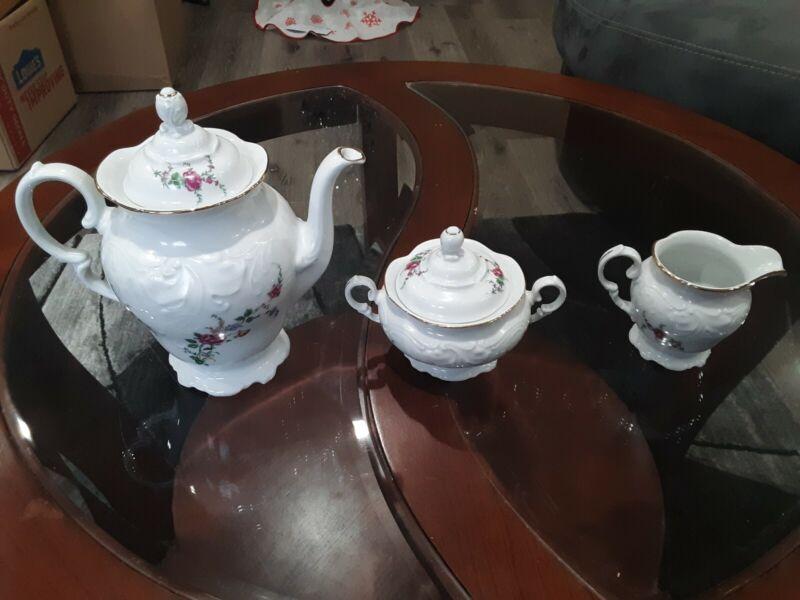 Wawel Poland China Rose Tea Set READ