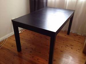 Ikea Bjursta extendable brown-black dining table Tempe Marrickville Area Preview