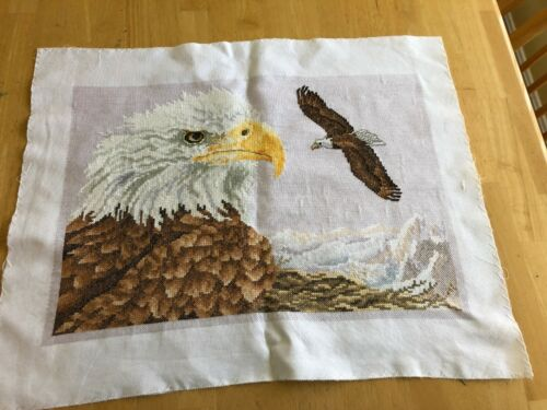 American Bald Eagle Cross Stitch Embroidery Completed Beautiful workmanship